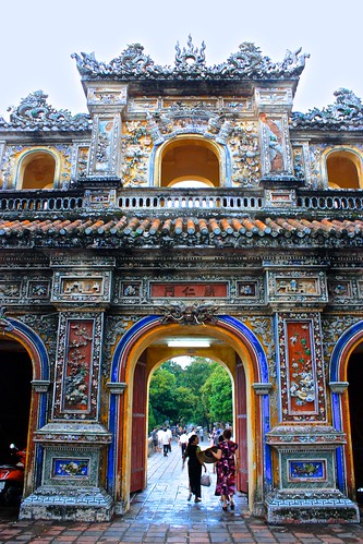 Gate to the outside wall of the Citadel in Hue