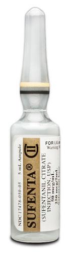 Sufenta sufentanil iv 50mcg 5ml ampoule Akorn