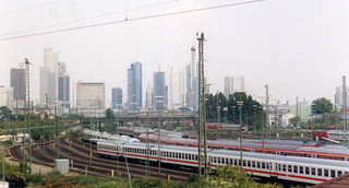 Frankfurt - Towers and Hauptbahnhof Yard