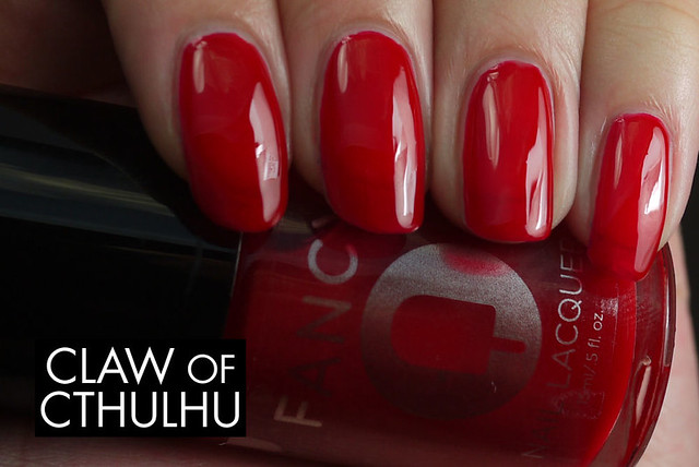Fancy Nail Lacquer by Rainbow Honey Fancy Red Swatch