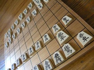 Shogi board and pieces - 将棋の盤と駒。
