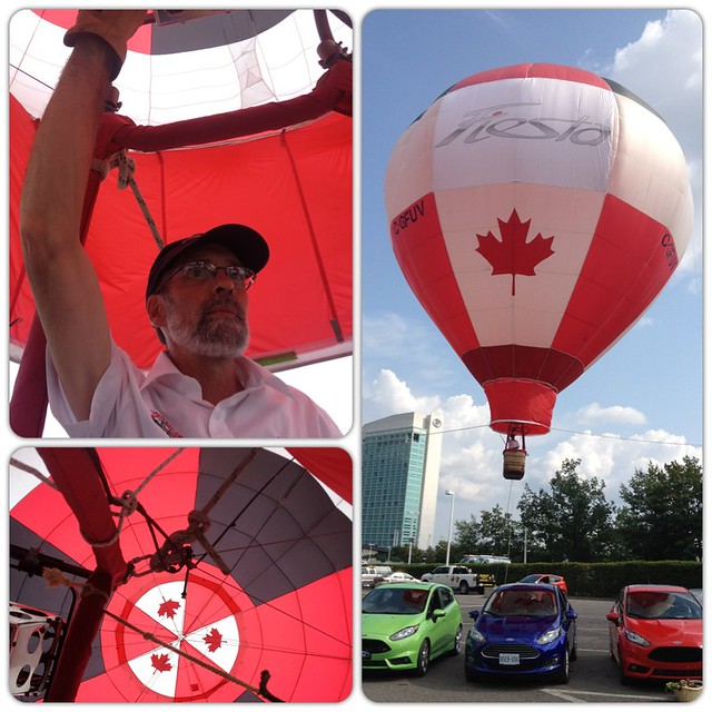 [PIC] Hot air balloon! Awesome way to end our day in Ottawa with #FordFiesta: