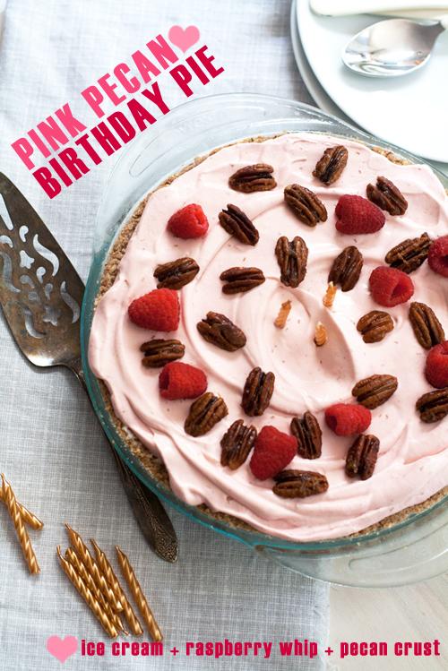 Guest Post Frozen Pink Pecan Birthday Pie
