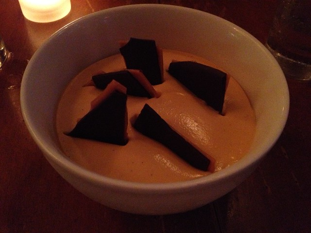 Butterscotch and chocolate pot de creme - Town Hall