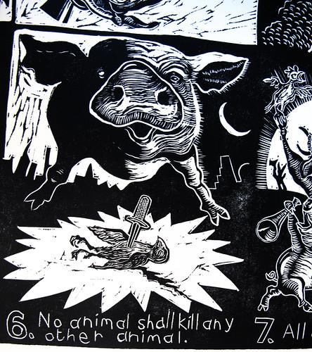 Sue Coe's Print at BGSU (Detail)