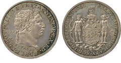 1818 Gold Coast Silver Pattern ½-Ackey