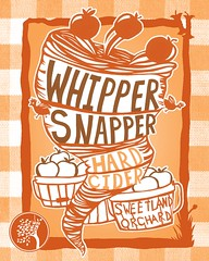 Whippersnapper label, a young hard cider