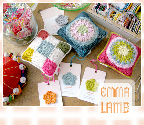 A trio of pincushions added to my shops this week | Emma Lamb