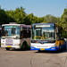 [Buses in Beijing]京华 Jinghua BK6141D1   黄海 Huanghai DD6181S02 北京公交集团 BPT #44070 Reserved / Line 331   #44275 Line 347 Front-left at Xinjiekou Huokou Bus Yard