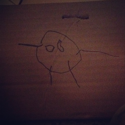 Cardboard box drawing.