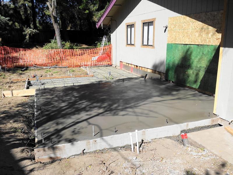 Residential Slab Room Addition Foundation In Davis