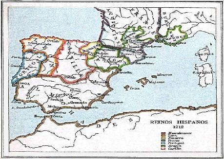 Península Ibérica en 1212