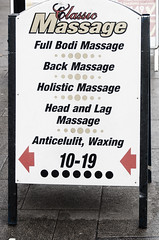 "A Very Strange Sign: ""Bodi Massage"", ""Lag Massage"", ""Anticelulit"""