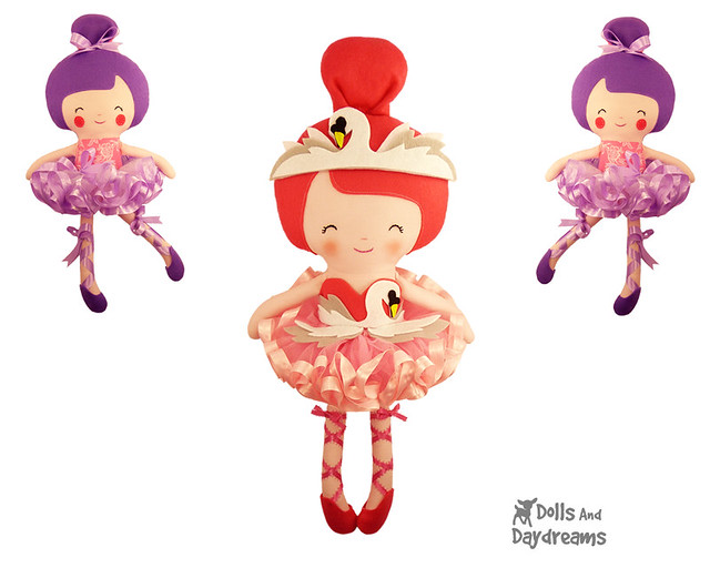 Swan Lake Ballerina Tutu Ballet doll clothes Sewing Pattern Dolls And Daydreams