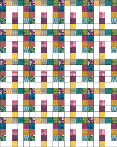 Precious Stones from Becoming a Confident Quilter - in True Colors