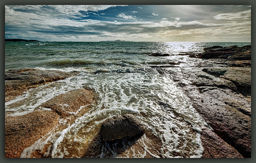 travel light sunset sea sky sun seascape color beach water stone backlight clouds thailand island sand nikon wideangle adventure thai nikkor ultrawide hdr d800 1635mmf4
