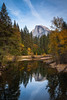 Half Dome, Yosemite Valley, Fall Colors by spamfan7