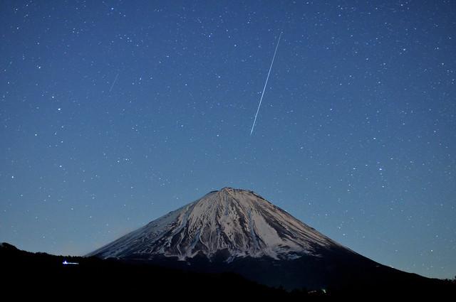 Geminids 2013 - Mt.Fuji