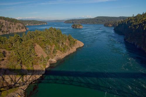 ocean bridge usa coast pacific whidbeyisland washingtonstate deceptionpass whidbey