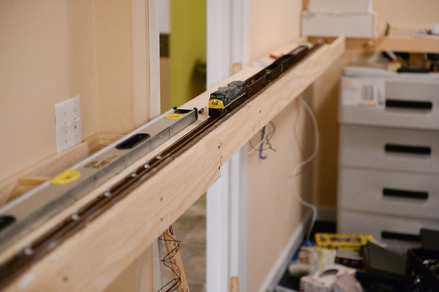 Ho scale shelf layout up and running cs x and some gondola