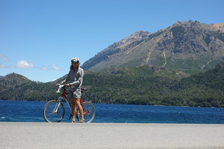 Out cycling by Lago Gutiérrez