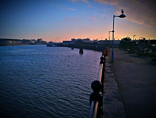 Lowestoft inner harbour looking east