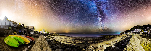 300 Degree View Of Steephill Cove By Night