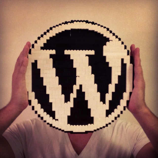 WordPress logo in LEGO - ze inst4gr4m sh0t