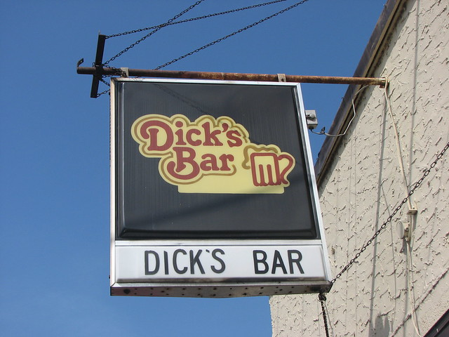Sign from Dick's Bar, Hudson, WI
