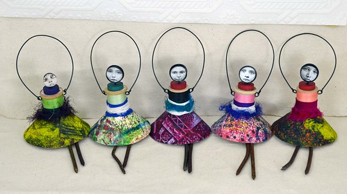 mixed media art dolls by indiandollartworks