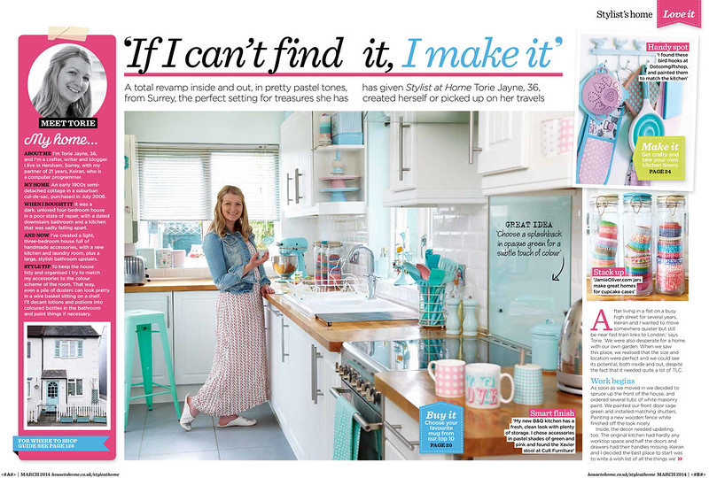 Torie Jayne's house in Style at Home UK magazine