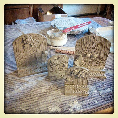 Product development day (AKA work=play) #ceramics #handbuilding #fairydoors