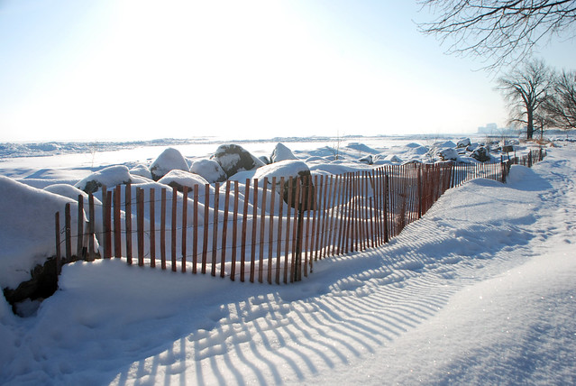 Wooden Fence, Dempster Street Beach, Evanston, Lake Michigan, February 9, 2014 120 full bp