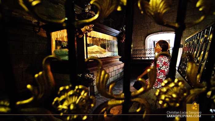 A Faithful Praying at Pampanga's Bacolor Church