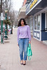 lavender sweater, boyfriend jeans, mint bag-3.jpg by LyddieGal
