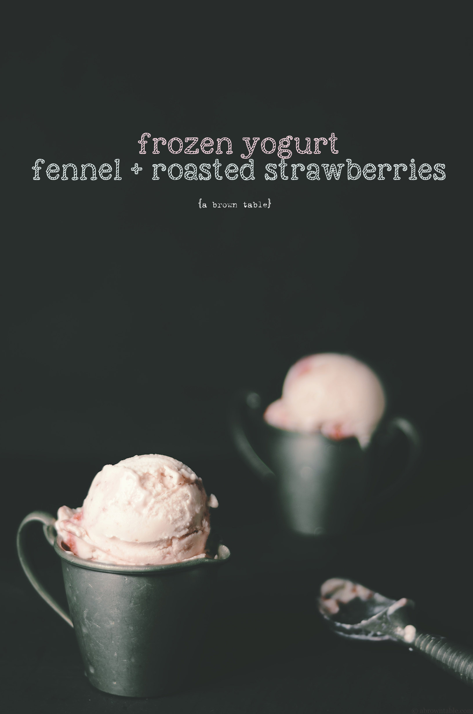 fennel strawberries frozen yogurt