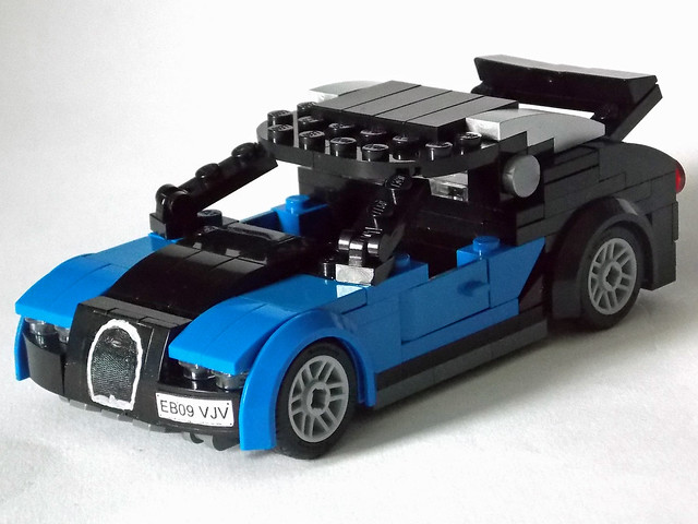 LEGO Minifigure-scale Car - 7-wide Bugatti Veyron 1