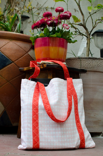 Notebook fabric tote