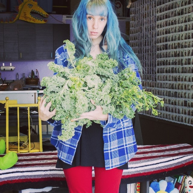 """Kale Mother"", the story of a mother losing her kale plants in a freak sleet snow storm during Spring of 2014 when it was 70 degrees a few days ago.  #kale #rip #mother #artphotography #art #documentary #gardenchat #bluehair #manicpanic  #rooftop #NYC #Br"