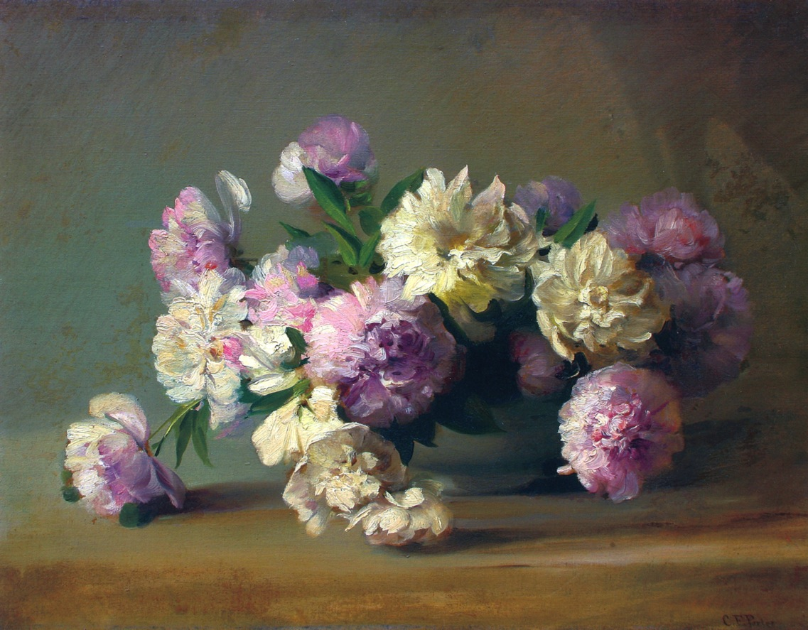 Peonies in a Bowl by Charles Ethan Porter, 1885
