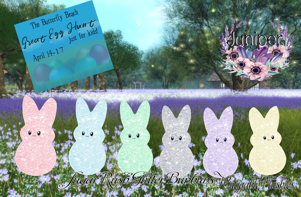 {Juniper} Sugar Rush Glitter Bunbuns @ the Great Egg Hunt! - SecondLifeHub.com