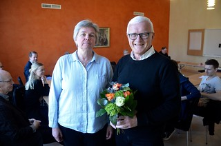 Bertil Johansson avtackas som styrelsesuppleant i SBBF