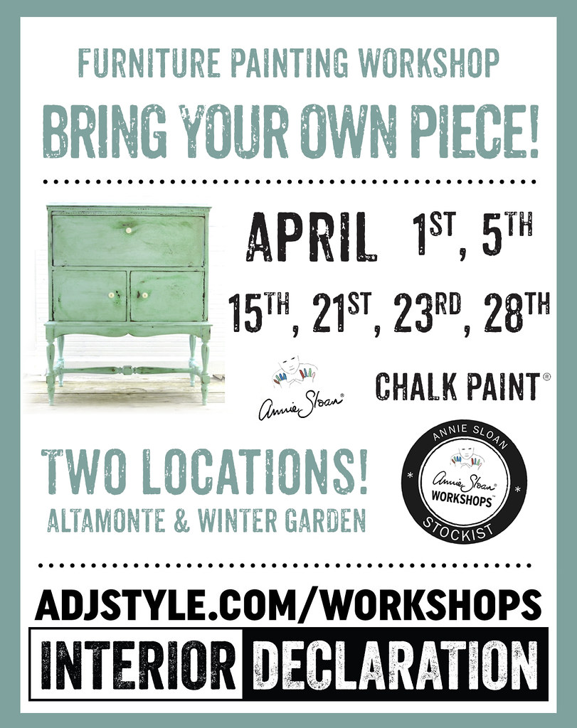Bring your own piece of furniture to paint!