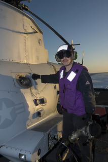 MQ-8B Fire Scout unmanned autonomous helicopter aboard the littoral combat ship USS Fort Worth (LCS-3)
