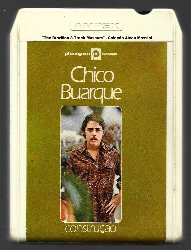 1971 - Chico Buarque / Construção - brazilian 8 track - fita cartucho de 8 pistas
