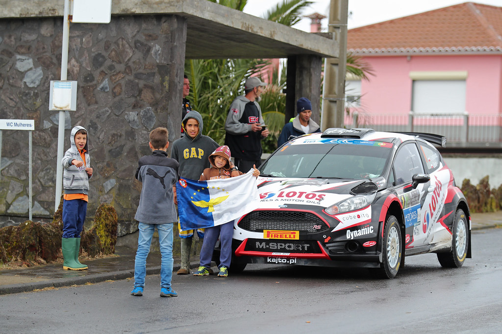 01 KAJETANOWICZ Kajetan  BARAN Jaroslaw Ford Fiesta R5 Ambiance Portrait during the 2017 European Rally Championship ERC Azores rally,  from March 30  to April 1, at Ponta Delgada Portugal - Photo Gregory Lenormand / DPPI