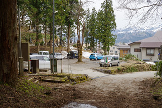 鳥坂神社隣の駐車場到着
