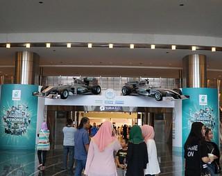 #Petronas Formula 1 car display at the Dewan Filharmonik !