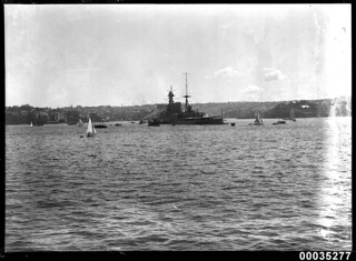 HMS HOOD in Sydney Harbour