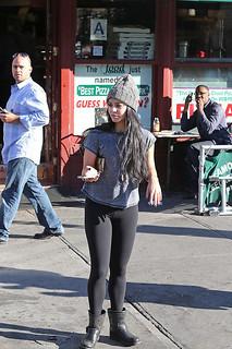 Vanessa Hudgens Studded Biker Boots Celebrity Style Women's Fashion 1